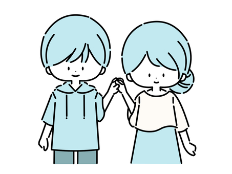 情人/情侶(藍色:01)
