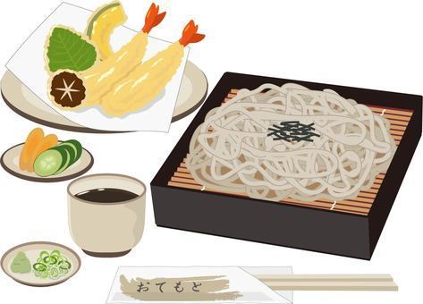 Zaru蕎麥麵天婦羅套餐