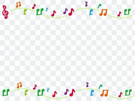 Musical note frame 2