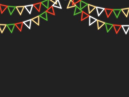 霓虹風格_聖誕花環框B
