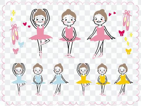 小芭蕾舞女演員【芭蕾舞裙】1