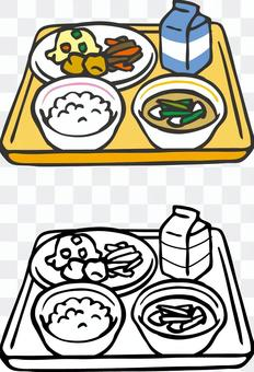 午餐(飯鳥湯)手繪