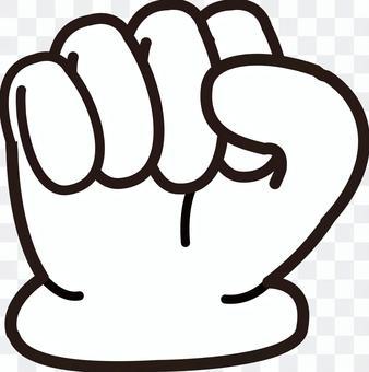 手シリーズ 手袋 握る手