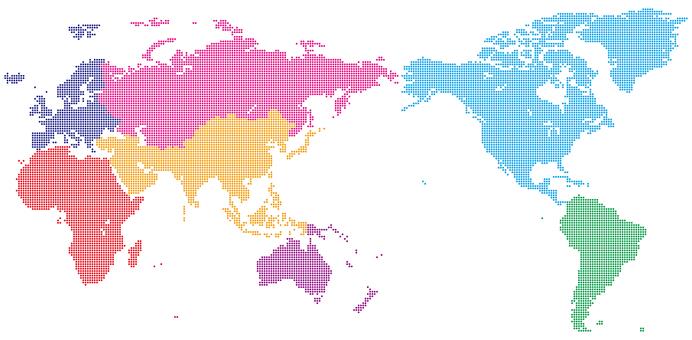 World map_dot_Asia center_regional division