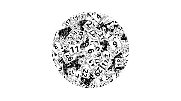 日曆,日曆,年,月,年,剪影 4