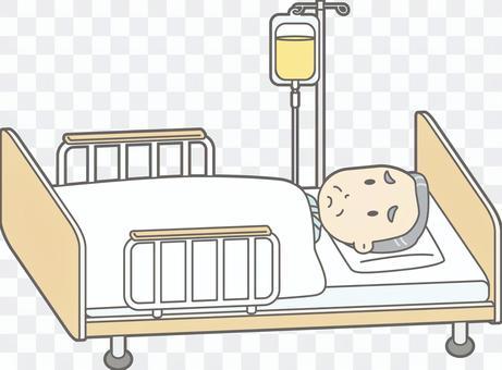 老人d醫院床整體