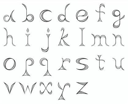 手工製作字母表