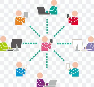 SNS 説明図 ピクトグラム