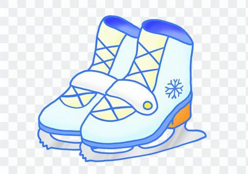 淺藍色溜冰鞋