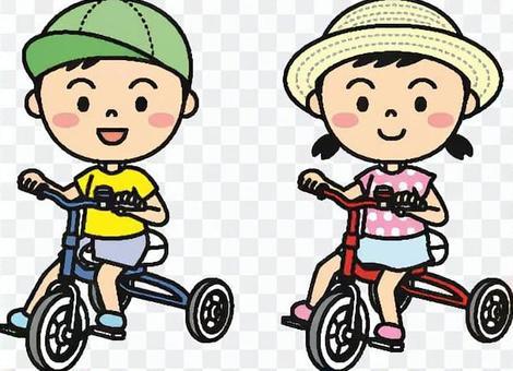 夏天的孩子(三輪車顏色)
