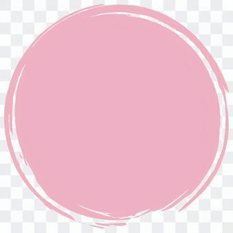 Brush round _ light pink _ v 8
