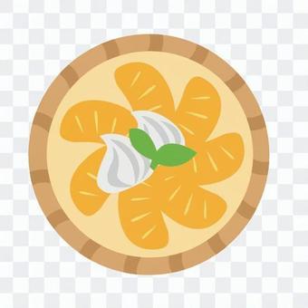 Orange tart 1 hole