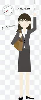 通勤的女商人