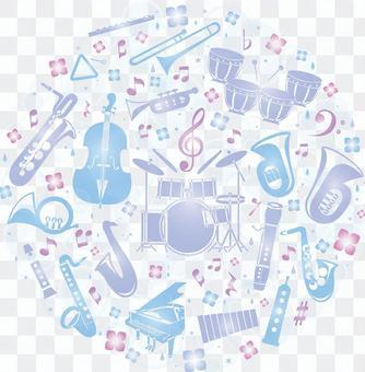Musical instrument set for June concert