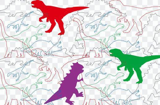 Dinosaur stitch overall pattern-02