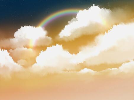 彩虹在黃昏