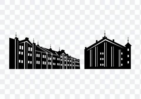 紅磚倉庫剪影