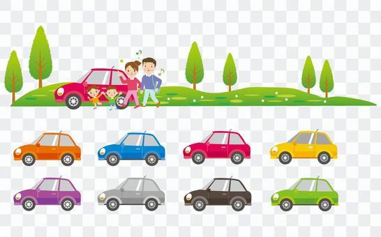 家庭和各种汽车