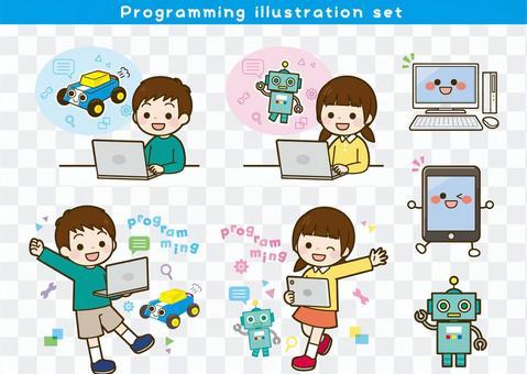 Programming illustration set