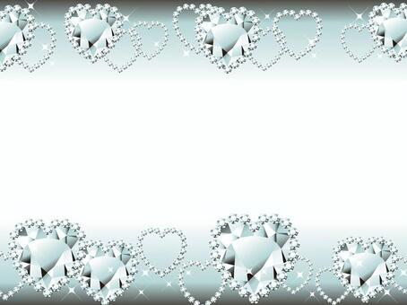 鑽石心寶石的閃閃發光的框架