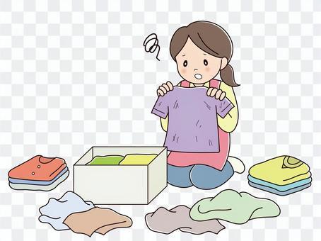 衣類の断捨離(悩む)