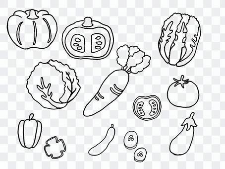 蔬菜畫出的線