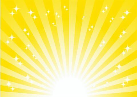 黄色の放射状キラキラ背景素材