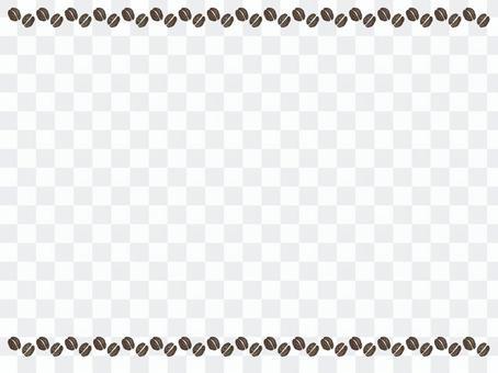 Coffee bean line & background