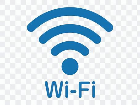 Wi-Fi(ワイファイ)丸型 青