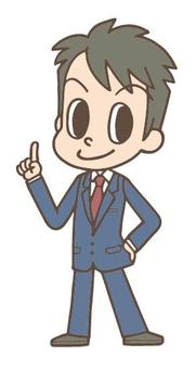 Fingering salaryman whole body