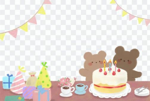 生日賀卡熊
