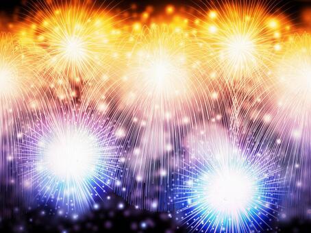 Colorful summer fireworks background / wallpaper frame 5
