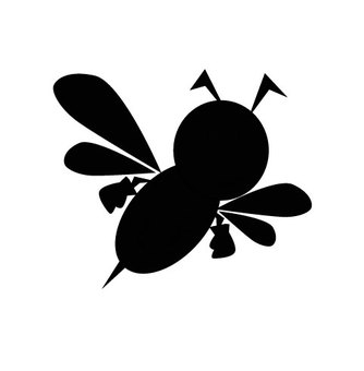 Bee silhouette