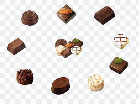 簡單的巧克力套