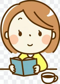 一個女人閱讀