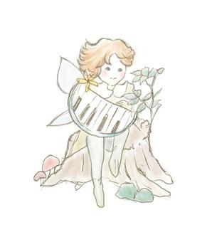 Fairy_boy手繪插畫與鋼琴