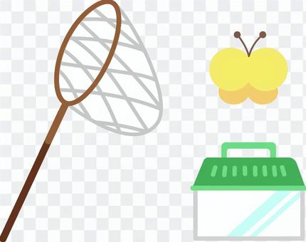 Insect net and basket butterfly