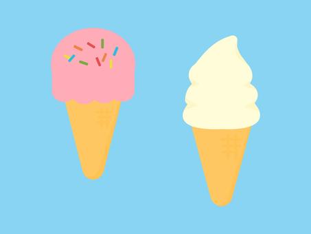 Simple and cute ice cream