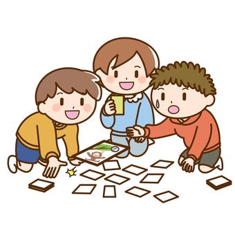 Children playing karuta