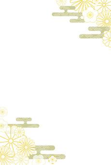 簡單可愛的日本圖案框架垂直