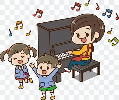 幼兒園老師和小孩(鋼琴)