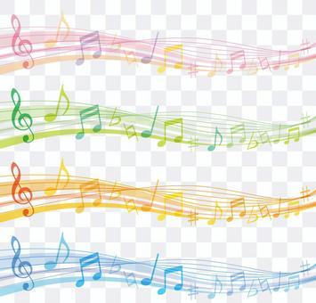 音樂波框架