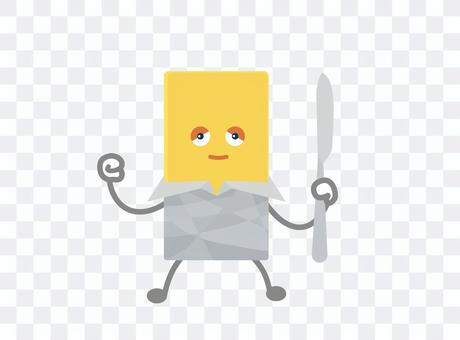 Butter character, energetic