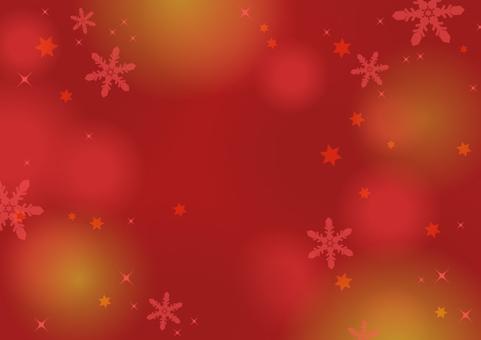 冬天·雪·聖誕節背景(紅色