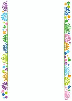 Flower, background, frame, A4 length, with feet