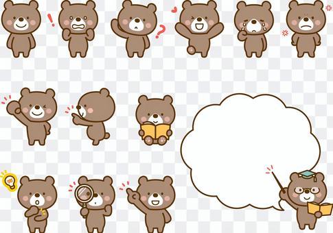 各種各樣的熊的姿勢