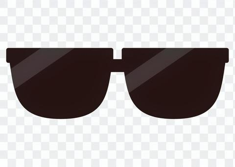 插圖(太陽鏡,黑色)