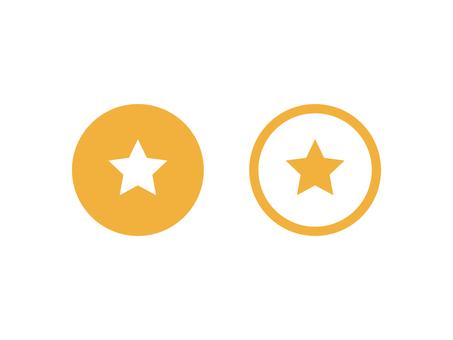 Star Favorite Button Set: Color