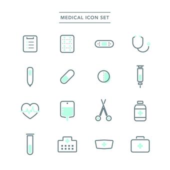 醫療圖標集