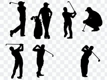 高爾夫剪影